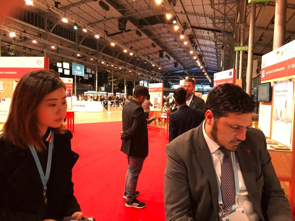 Ms LU Yanrong from China Global Television Network (CGTN) at the IUC Asia stand